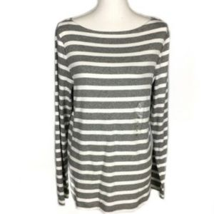 NEW Gap XL Top Long Sleeve Tee Shirt Striped